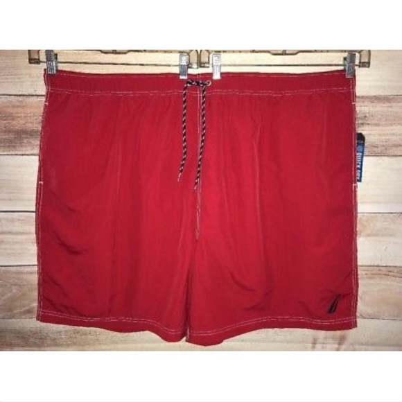 766abfa8d1 Nautica Swim | Red Trunks 5xl Quick Dry Board Shorts | Poshmark